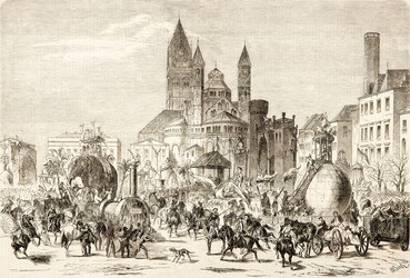 Kölner Karneval, Maskenumzug, Rosenmontag 15. Februar 1858
