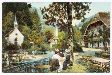 Gasthaus zum Sternen, Station Höllsteig im Höllental (Schwarzwald), Postkarte gesendet am 16. Okt. 1910