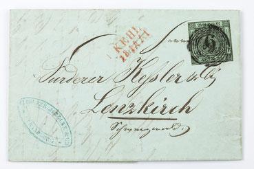 Geschäftsbrief Fürderer Jaegler & Cie. Straßburg von 1852