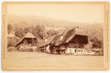Bauernhaus im Gutachtal im Schwarzwald, C- Clare um 1890