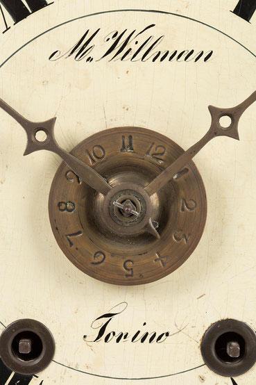 Signatur vom Uhrenhändler M. Willman in Turin