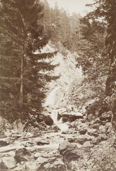 Ravennaschlucht Wasserfall, Foto um 1890