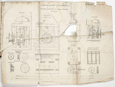 Schwarzwälder Gewichtsuhren, Beilage aus dem Gewerbeblatt für den Schwarzwald 1853