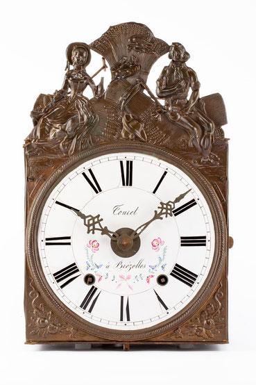 Comptoise Uhr, Händlersigatur Touret à Brézolles, Frankreich um 1850