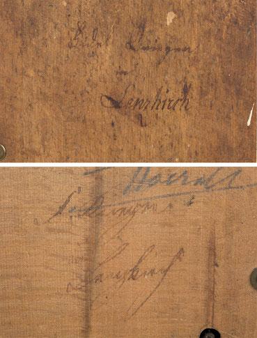 Signaturen von Uhrenmacher Fidel Krieger in Lenzkirch
