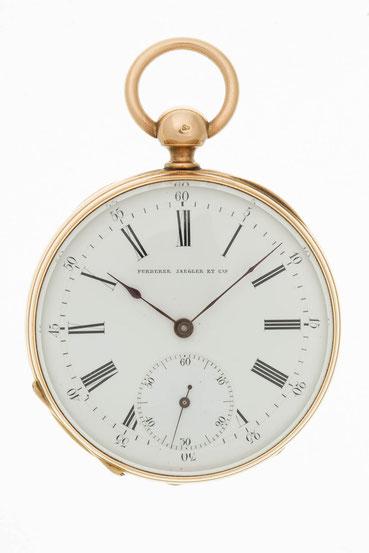 Goldene Taschenuhr, Fürderer Jaegler & Cie a Strasbourg