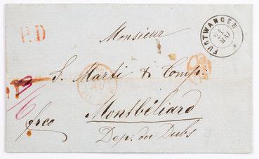 Brief von Lorenz Bob (Furtwangen) an Samuel Marti (Montbéliard), 21.05.1857