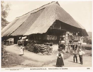 Schwarzwaldhaus im Gutachtal, Verlag der Photographischen Gesellschaft A.G. Berlin-Steglitz 1904, Nr. 2335