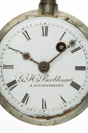 Zifferblattsignatur: G. H. Berblinger A EMMENDINGEN