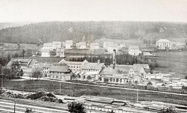 Die Uhrenfabrik in Lenzkrich um 1920 (Abbildung aus: Quelle 1, S. 89)