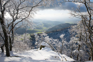 Winterlandschaft, Blick vom Kandel ins Glottertal