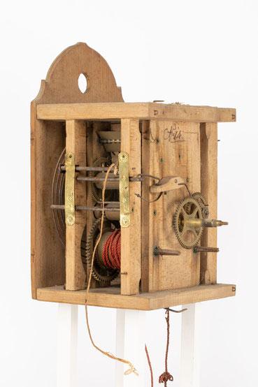 8 Tage Uhrwerk von Isidor Dorer aus Furtwangen Katzensteig (Schwarzwald), um 1850
