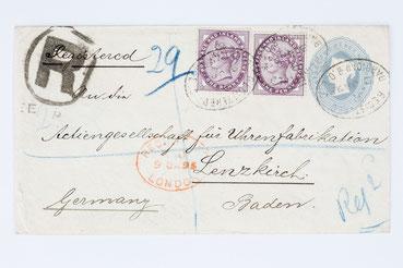 Brief an die Actiengesellschaft für Uhrenfabrikation Lenzkirch von T. Ascher London 1895