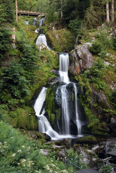 Triberger Wasserfall, die untere große Hauptstufe