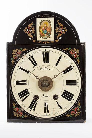 Lackschilduhr für den Italienischen Markt vom Uhrenhändler M. Willman (Turin)