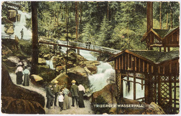Triberger Wasserfall, Postkarte vom 25.08.1909