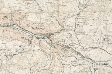 topographische Karte von Höllsteig (Ausschnitt), Grossherzoglich topographisches Bureau 1898