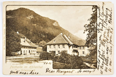 Postkarte der Posthalde im Höllental (Schwarzwald), gelaufen 1901