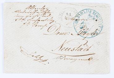 Feldpostbrief von der Belagerung Straßburgs im Deutsch-Französichem Krieg (August 1870) durch Badische Truppen