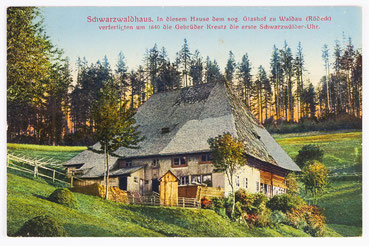 Glashof, Ursprungsort der Uhrmacherei, Postkarte gesendet 28.09.1917