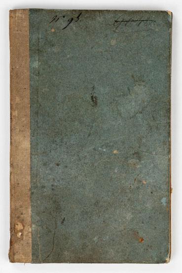 Wanderbuch des Uhrmachergesellen Georg Bilharz von 1849 bis 1851, Kenzingen im Großherzogtum Baden, Umschlag Vorderseite