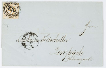 Brief an Nicolaus Tritscheller in Lenzkirch von Herrn Schuster aus Frankfurt, 15. November 1866