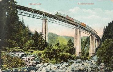 Das Ravenna-Viadukt im Höllental, Postkarte von 1910
