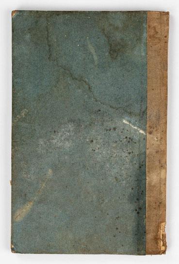 Wanderbuch des Uhrmachergesellen Georg Bilharz von 1849 bis 1851, Kenzingen im Großherzogtum Baden, Buchdeckel Rückseite