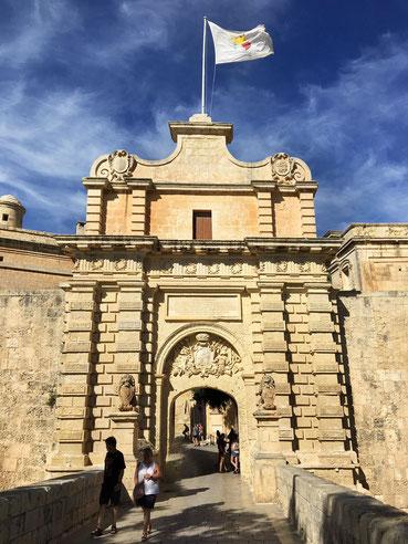Mdina antica capitale isola di Malta la città silenziosa