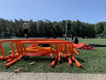 Neben dem Fußball wurde viel im körperlichen Bereich gearbeitet.