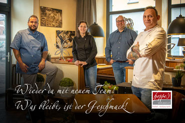 Timo Schotten, Patricia Neugebauer, Bernd Hoppe, Dirk Müller für den Service Sofia Fereirra