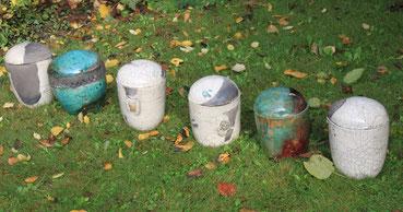 eine Auswahl meiner Urnen