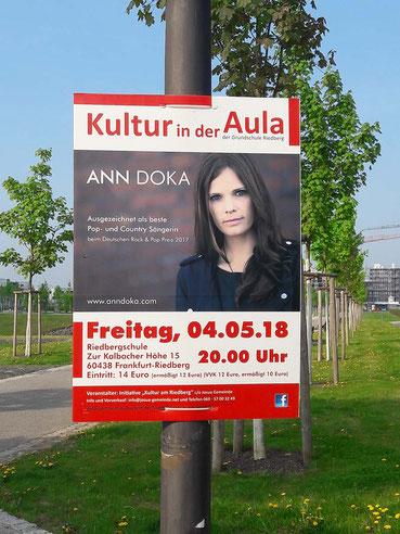 Petra Kress, Grafikbüro Frankfurt, Grafikdesign Frankfurt, Plakate gestalten Frankfurt, Ann Doka