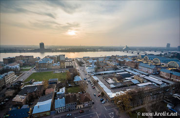 Вид на Даугаву со здания АН Латвии.