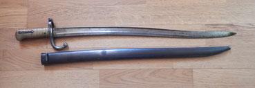 baionnette chassepot modèle 1866