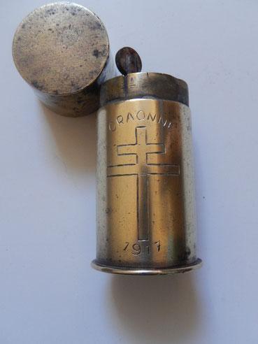 briquet de poilus artisanat de tranchée trench art