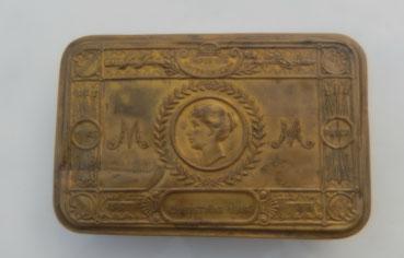 boite à tabac anglaise noël 1914