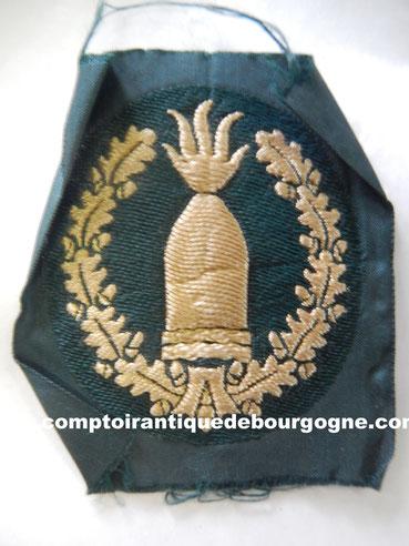 insigne tissu artillerie côtière