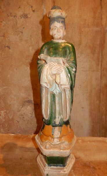 statuette yong terre cuite vernissée sancai