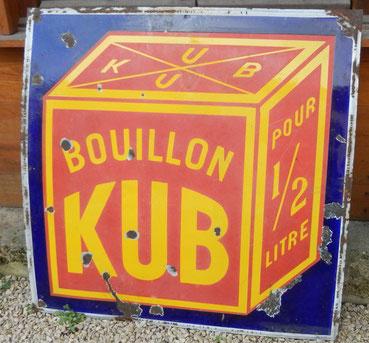 plaque émaillé bouillon Kub