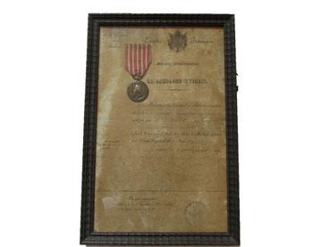 médaille campagne d'italie avec diplome