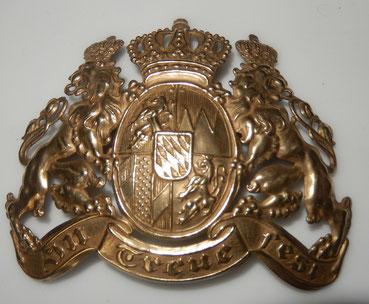 plaque de  casque à pointe bavarois