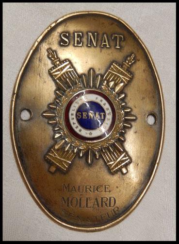 Plaque de métier , plaque de sénateur