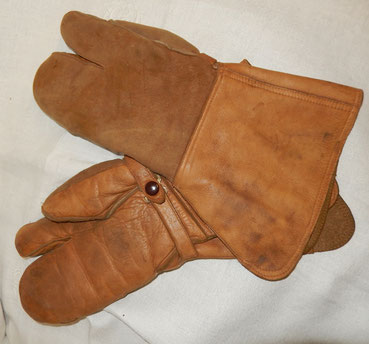 gants mitrailleur français aviation ww2