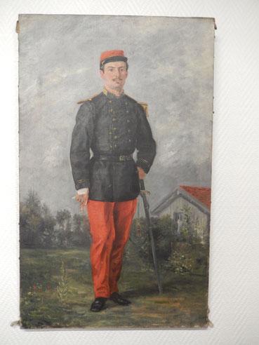 peinture  officier 113e régiment d'infanterie de ligne