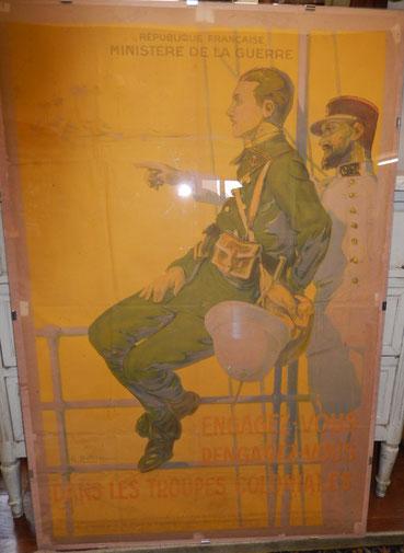 """affiche """"engagez vous rengagez vous dans les troupes coloniales """"  Georges Dutriac"""