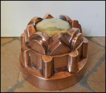 moules  en cuivres gâteaux charlotte bavarois