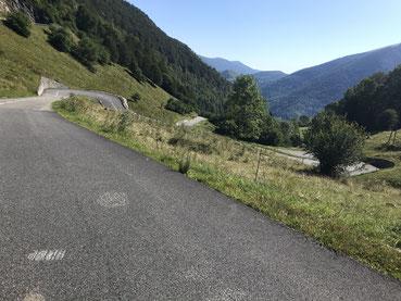 Auffahrt zum Col de Mente