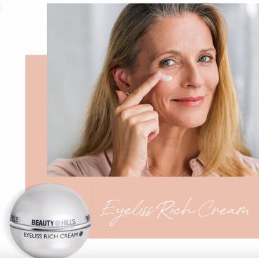 Beauty Hills, Kosmetik, Squalan, Pflanzenextrakte, Augenpflege, Eyeliss Rich, reichhaltige Augenpflege, reife Haut