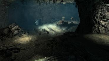 Heimeliger Dungeon, leider bewohnt.[Quelle: Bethesda]